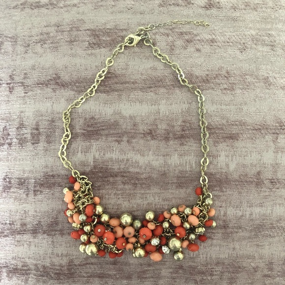 Jewelry - Coral and Gold Beaded Necklace